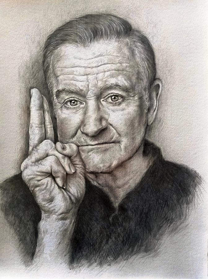 Robin Painting - Robin Williams by Tim Thorpe