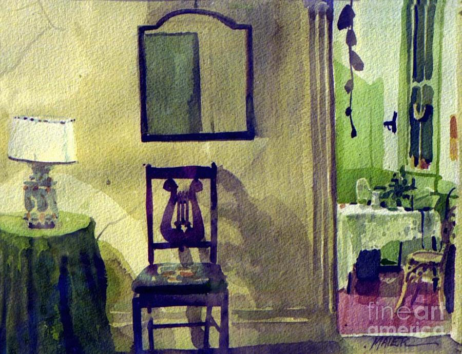 Interior Painting - Robins Chair by Donald Maier