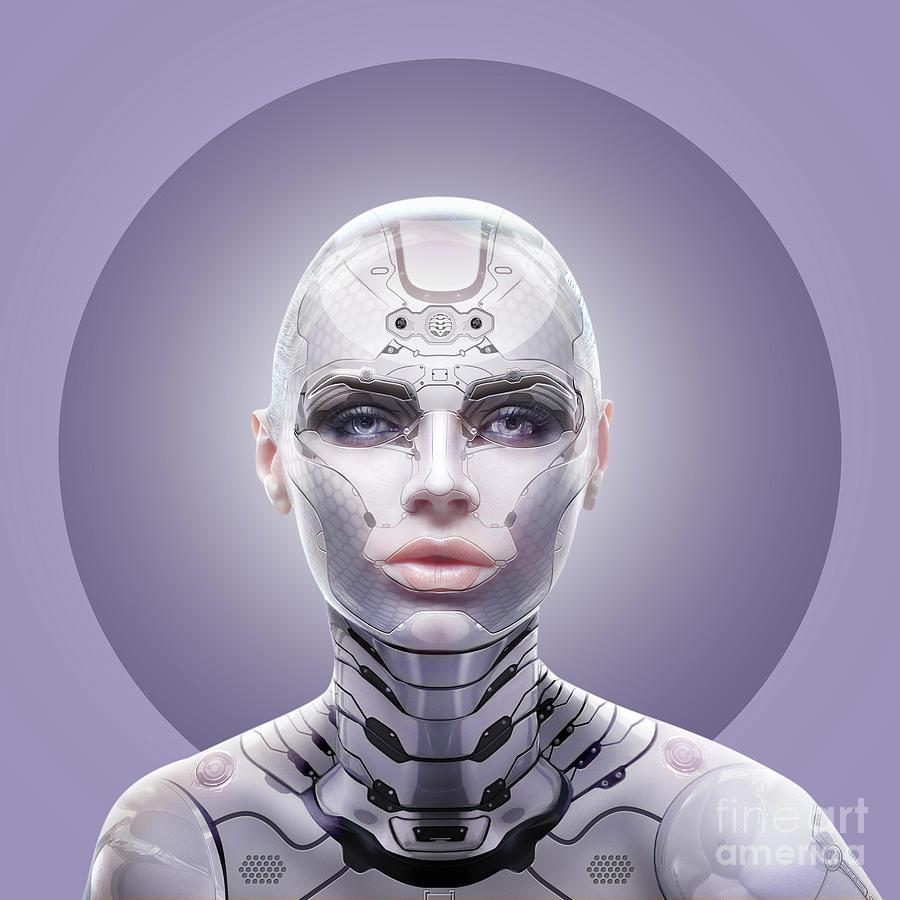 Robot Digital Art - Robot  by Mark Ashkenazi
