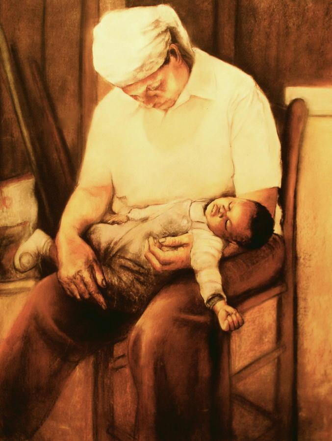 Grandmother Pastel - Rock-a-bye Grandma by Curtis James