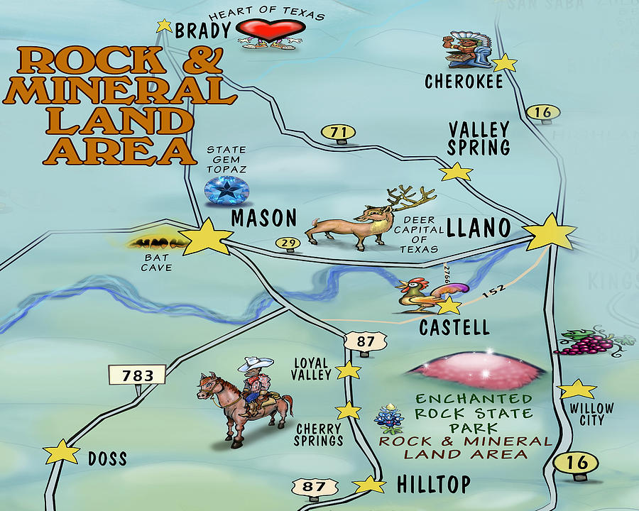 Rock And Mineral Land Area Digital Art
