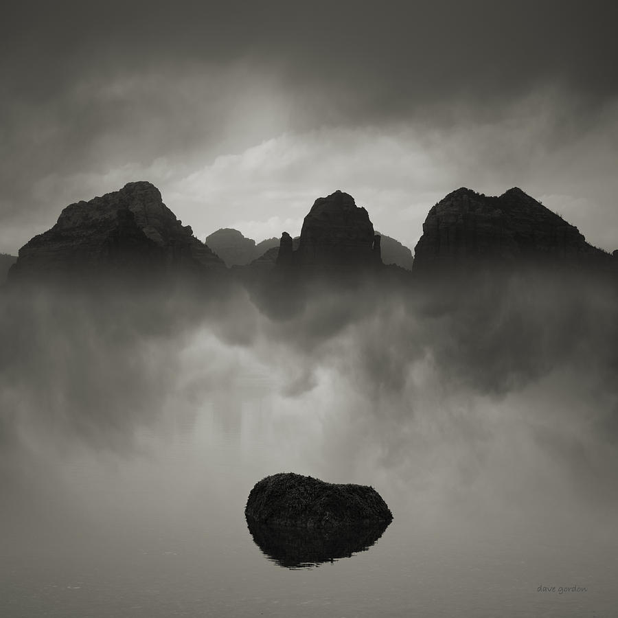 Landscape Photograph - Rock And Peaks by Dave Gordon