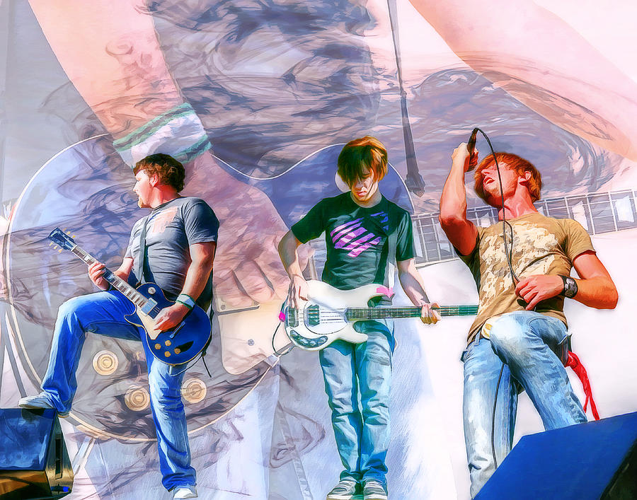 Rock Digital Art - Rock And Roll Band Version 1 by Randy Steele