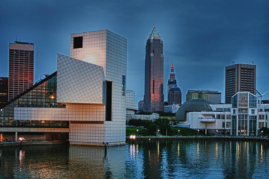 Closeup Photograph - Rock And Roll Hall Of Fame And Museum by Richard Gregurich
