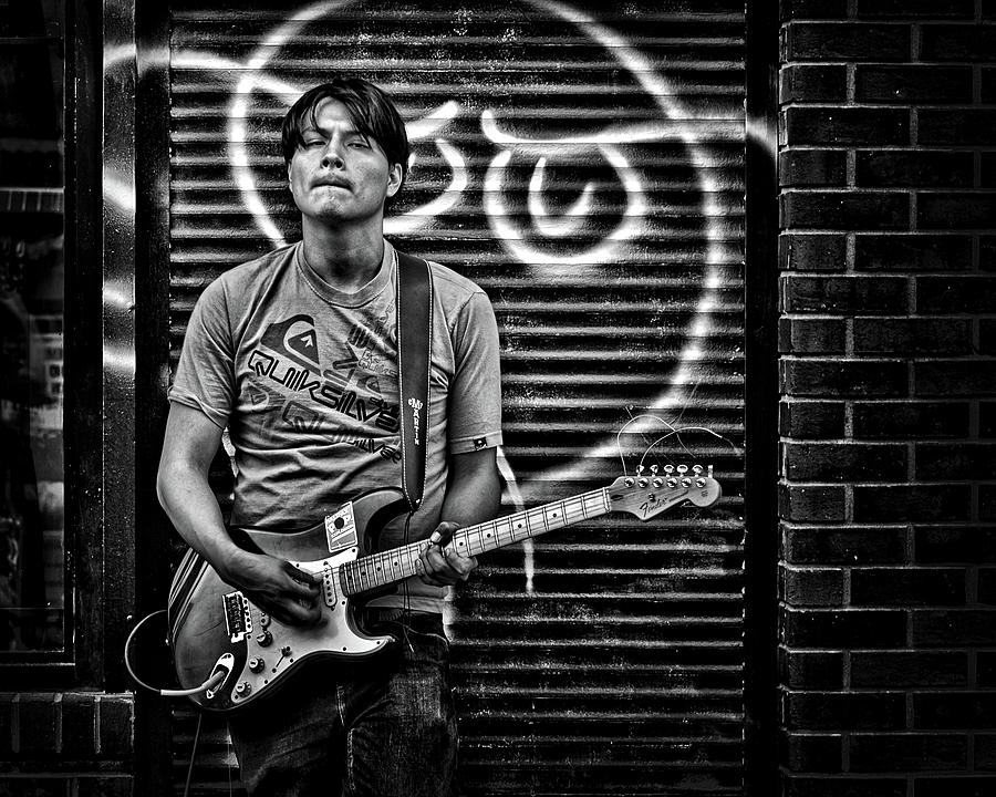 Toronto Photograph - Rock And Roll In Kensington Market by Brian Carson
