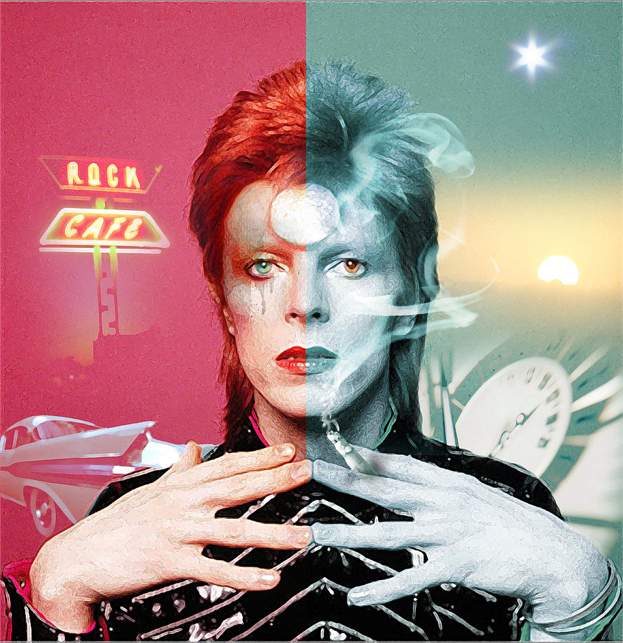 Rock And Roll Suicide is a piece of digital artwork by Mal Bray which ...Ziggy Stardust And The Spiders From Mars Album Cover