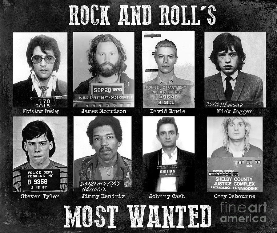 Mick Jagger Photograph - Rock And Rolls Most Wanted by Jon Neidert