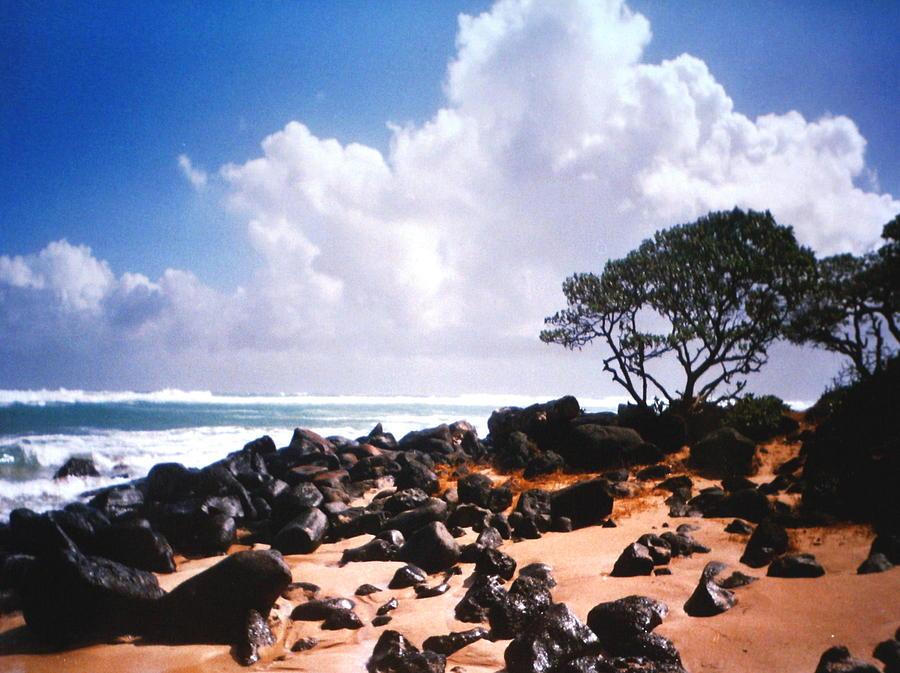 Beach Photograph - Rock And Sand by Diane Merkle