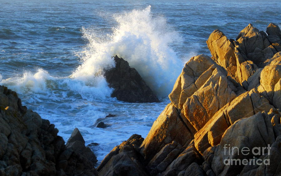 Rock Photograph - Rock And Wave by Catherine Lau