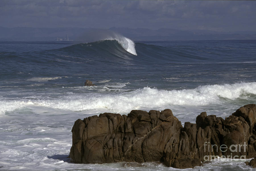California Photograph - Rock And Wave by Stan and Anne Foster
