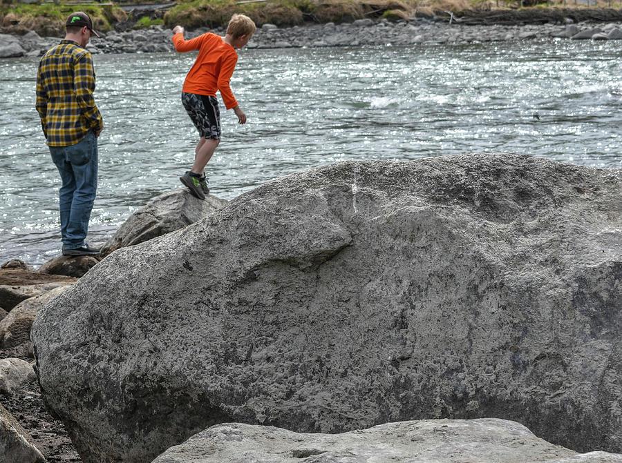 Kenai River Photograph - Rock Balancing by Crewdson Photography