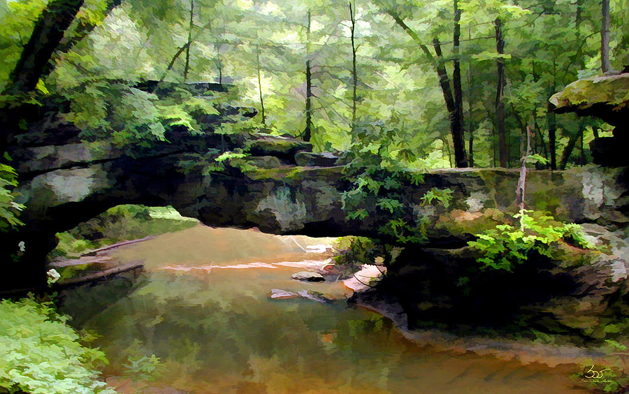 Rock Bridge Red River Gorge by Sam Davis Johnson