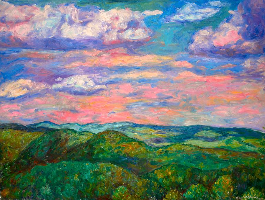 Landscape Paintings Painting - Rock Castle Gorge by Kendall Kessler