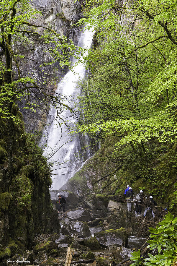 Rock Climbers Photograph - Rock Climbers At Graymares Tail Falls by Fran Gallogly