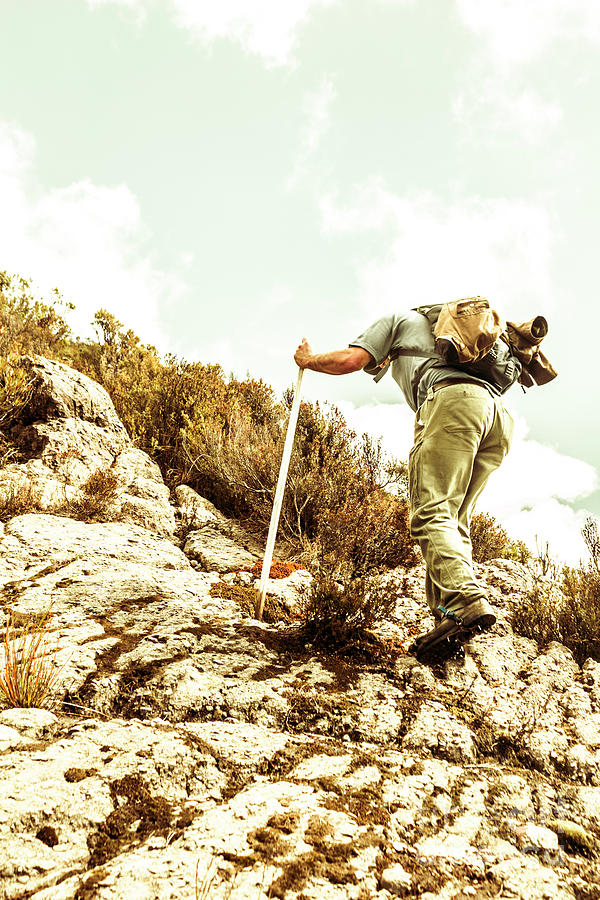 Steep Photograph - Rock Climbing Mountaineer by Jorgo Photography - Wall Art Gallery