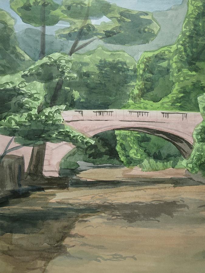 Rock Creek Bridge 5 Painting by Bethany Lee