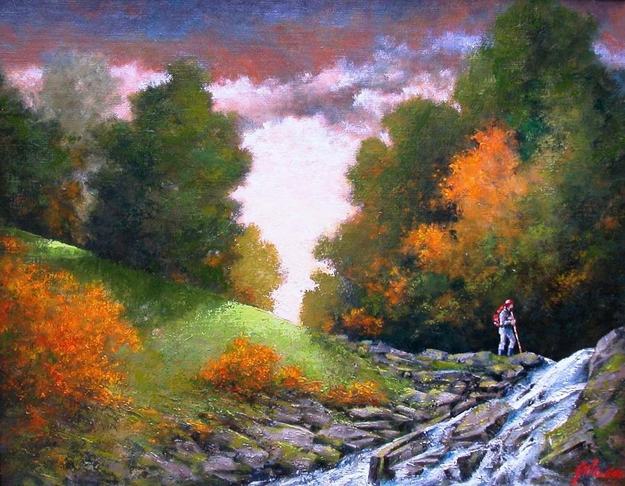 Artist Painting - Rock Creek by Jim Gola
