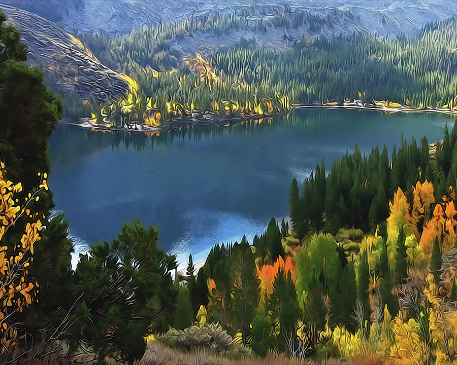 Rock Creek Lake in Fall by Frank Lee Hawkins