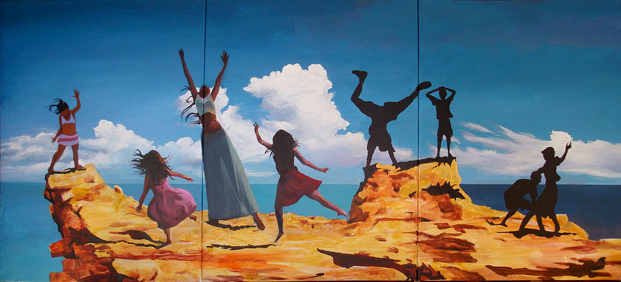 Sunny Painting - Rock Dancers by Geoff Greene