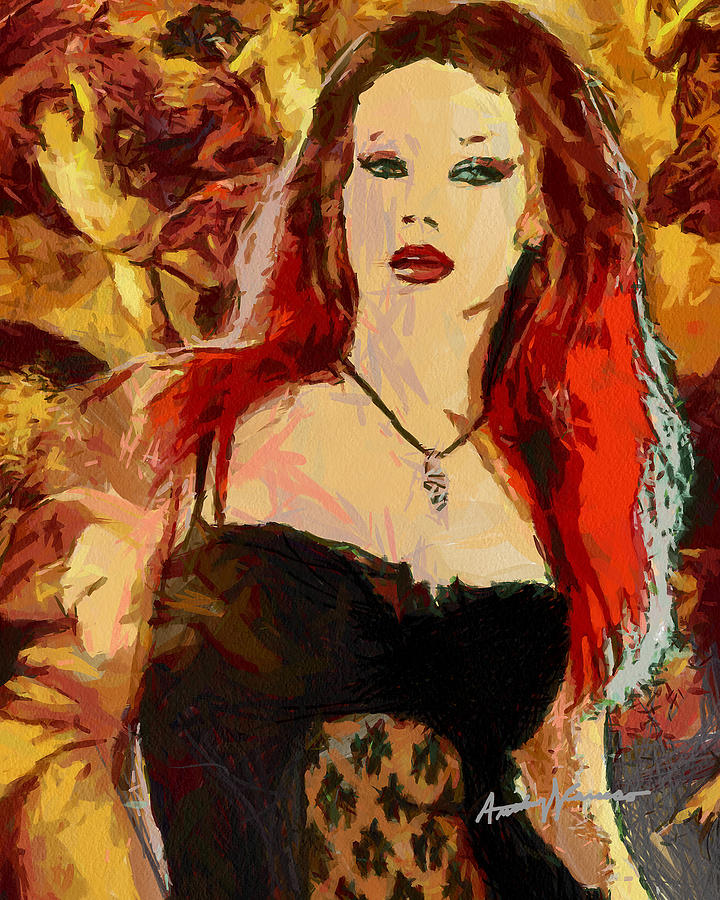 Rock Painting - Rock Diva by Anthony Caruso