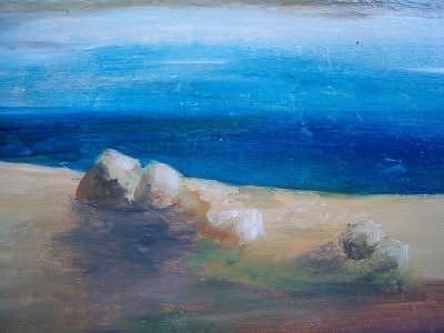 Rock Painting - Rock by Fahrettin  Oktay