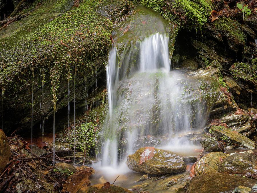 Long Exposure Photograph - Rock Falls by Alan Brown