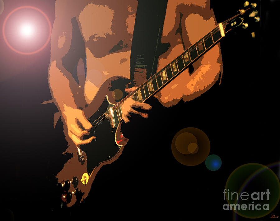 Rock And Roll Painting - Rock Hero by David Lee Thompson