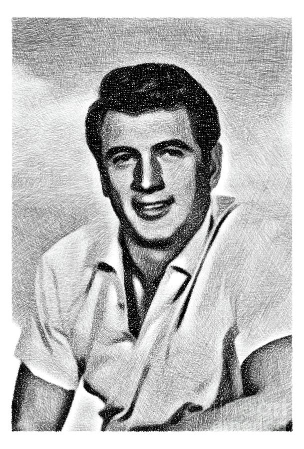 Rock Hudson, Vintage Actor By Js Drawing
