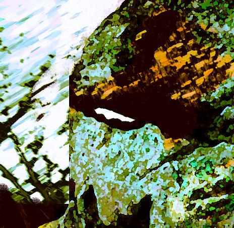 Landscape Digital Art - Rock by Lea Cox