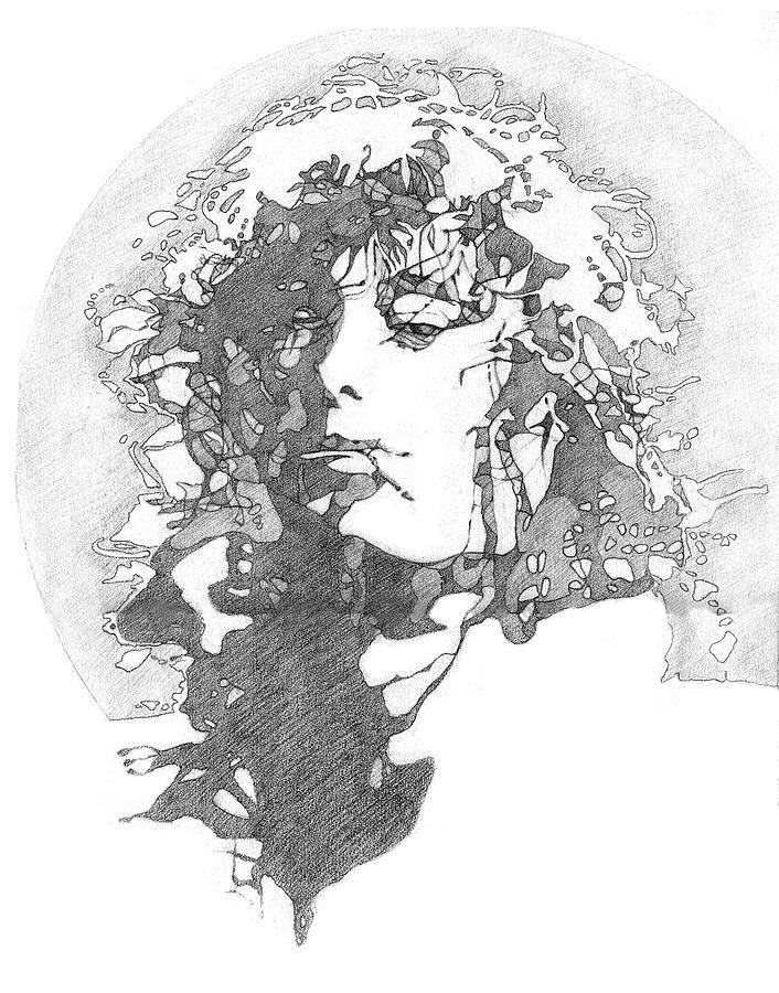 Pencil Drawing - Rock Legend by Karen Clark