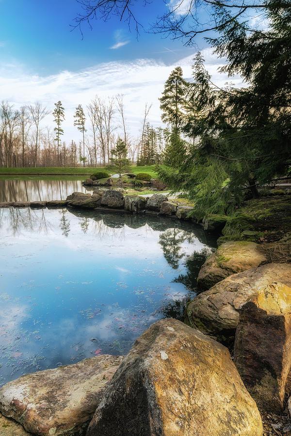 Landscape Photograph - Rock Lined Pond by Tom Mc Nemar