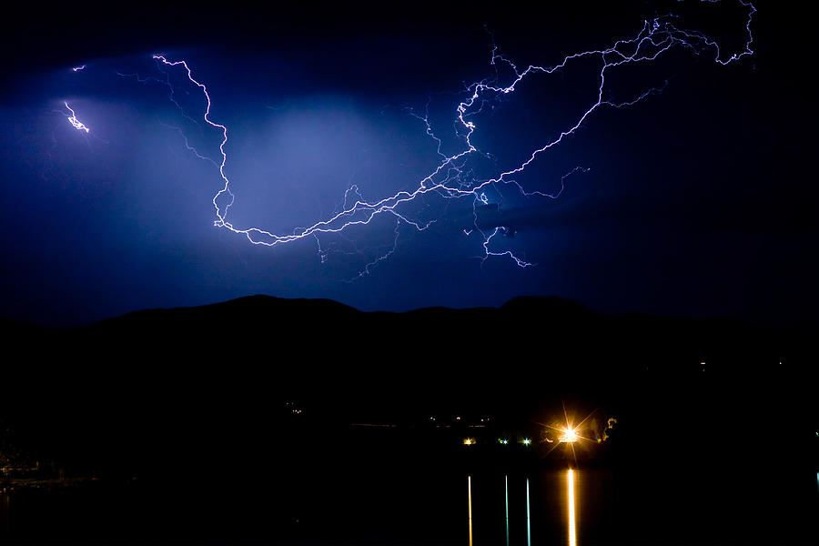 Lightning Photograph - Rock Mountains Foot Hills Lightning Storm by James BO  Insogna