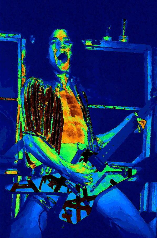 Van Halen Photograph - Rock n Roll The Cosmic Blues by Ben Upham