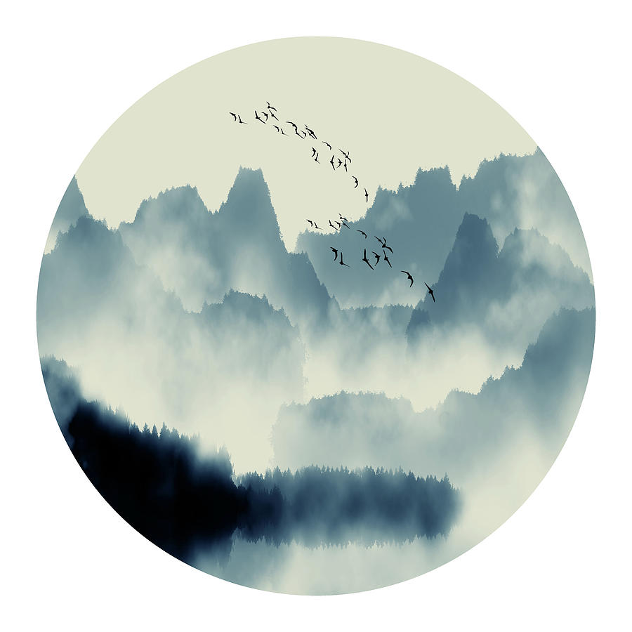 Rock Nature Chinese Painting