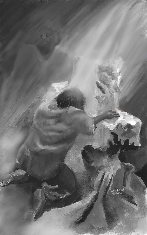 Spiritual Print - Rock Of Ages by Lee Hood