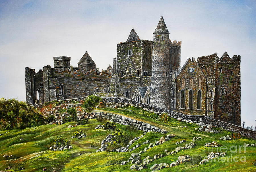 Oil Painting Painting - Rock Of Cashel Ireland by Avril Brand