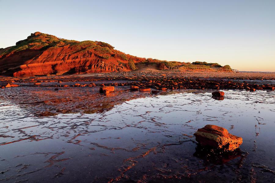 Rock Photograph - Rock Shelf At Long Reef 2 by Nicholas Blackwell