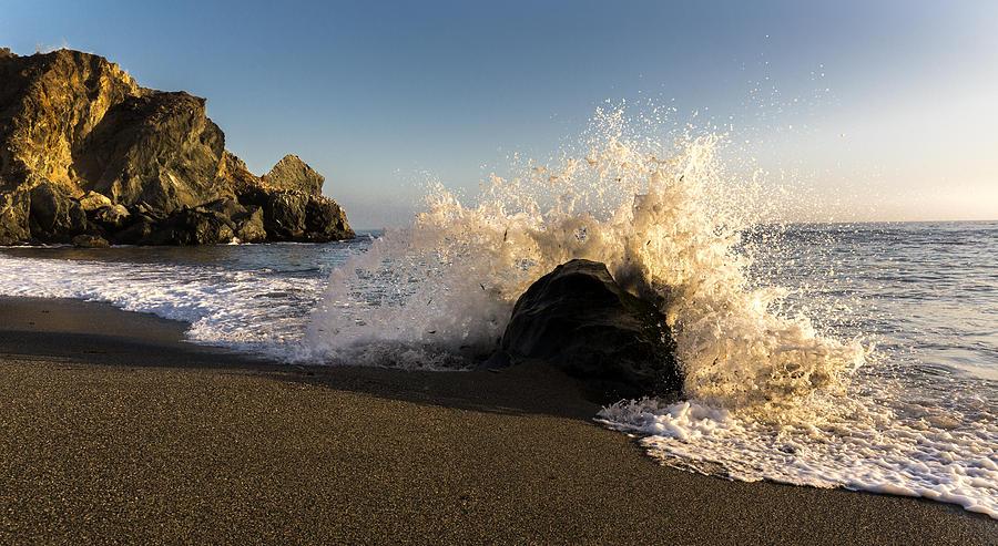 Beach Photograph - Rock Splash by Bryan Toro