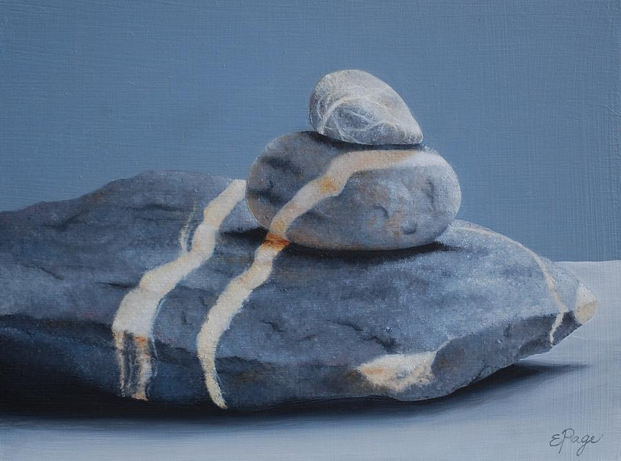 Realism Painting - Rock Stack by Emily Page