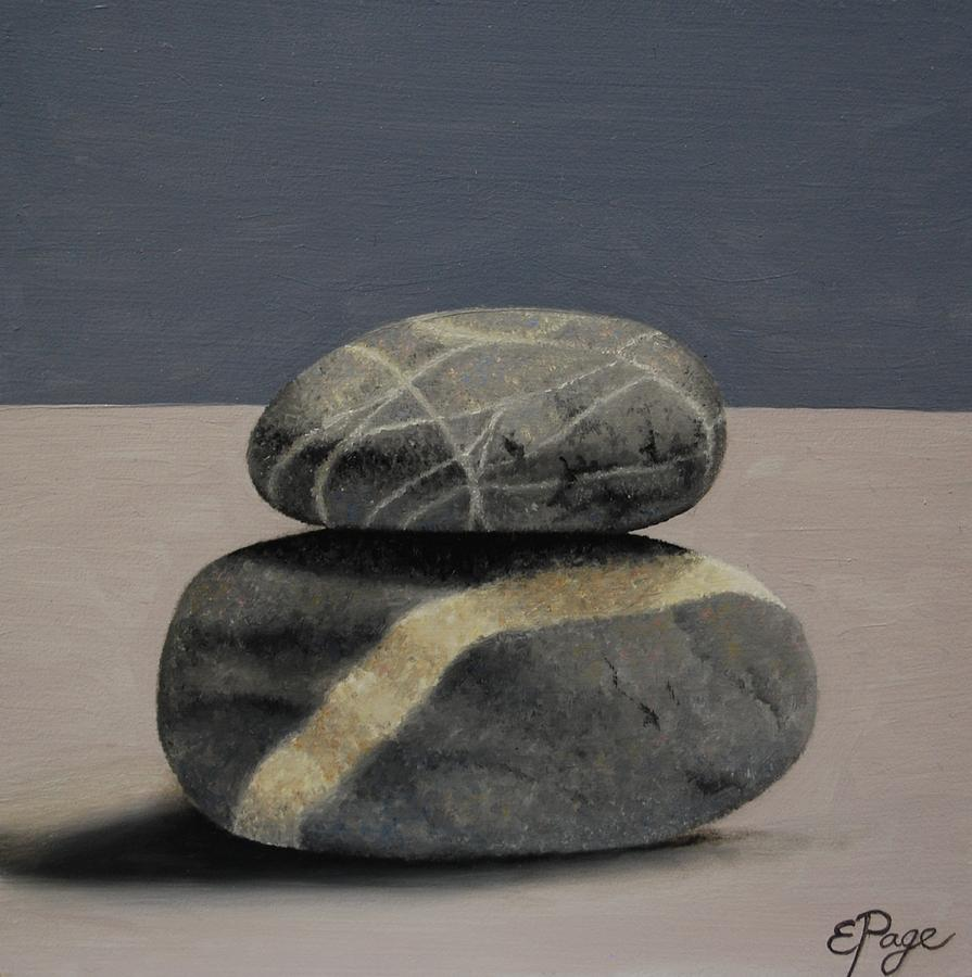 Realism Painting - Rock Stack II by Emily Page