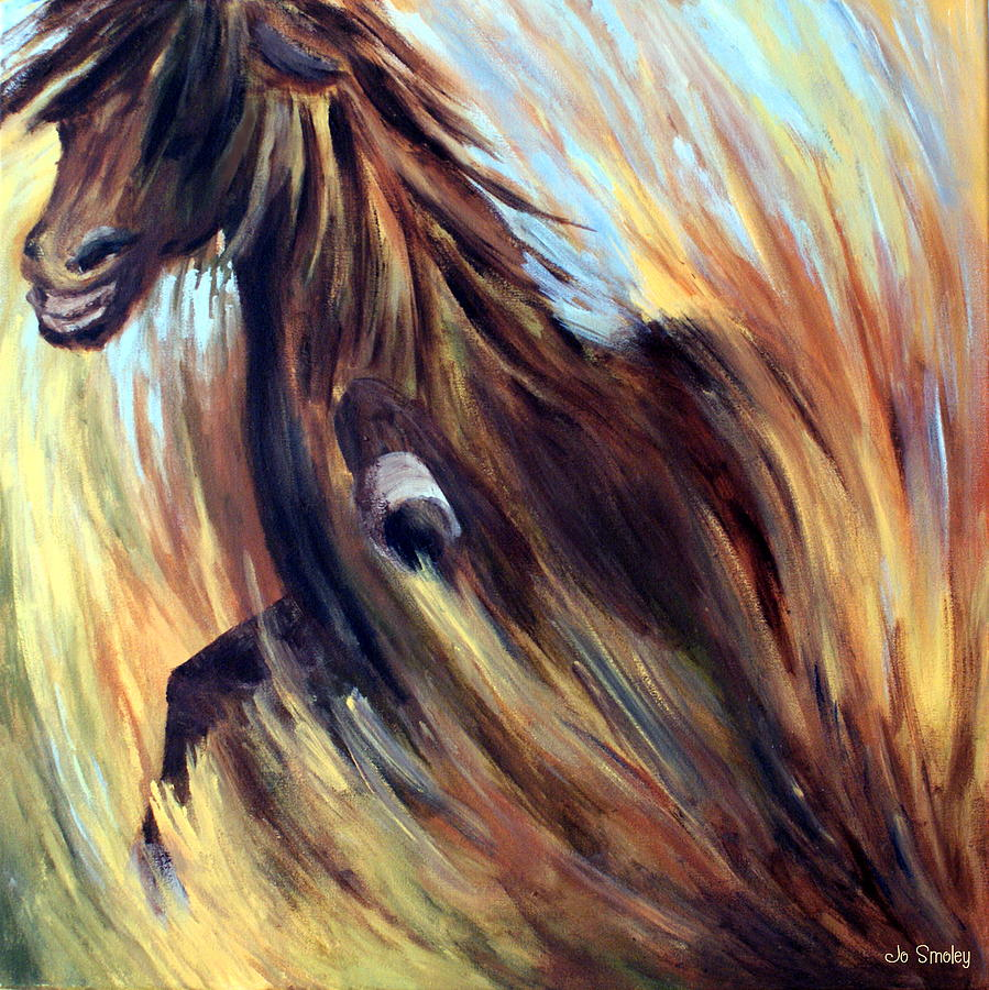 Horse Painting - Rock Star by Joanne Smoley