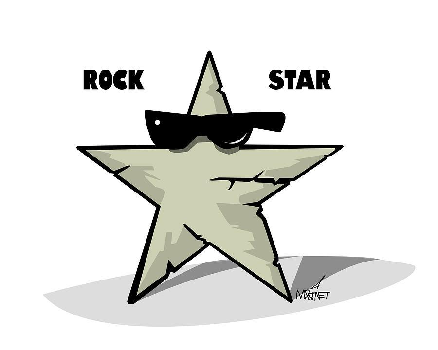 Rock Digital Art - Rock Star by Mike Martinet