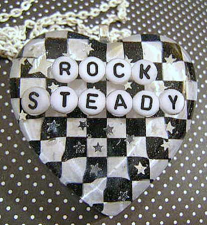 Necklace Jewelry - Rock Steady - Checkered Heart Pendant by Razz Ace
