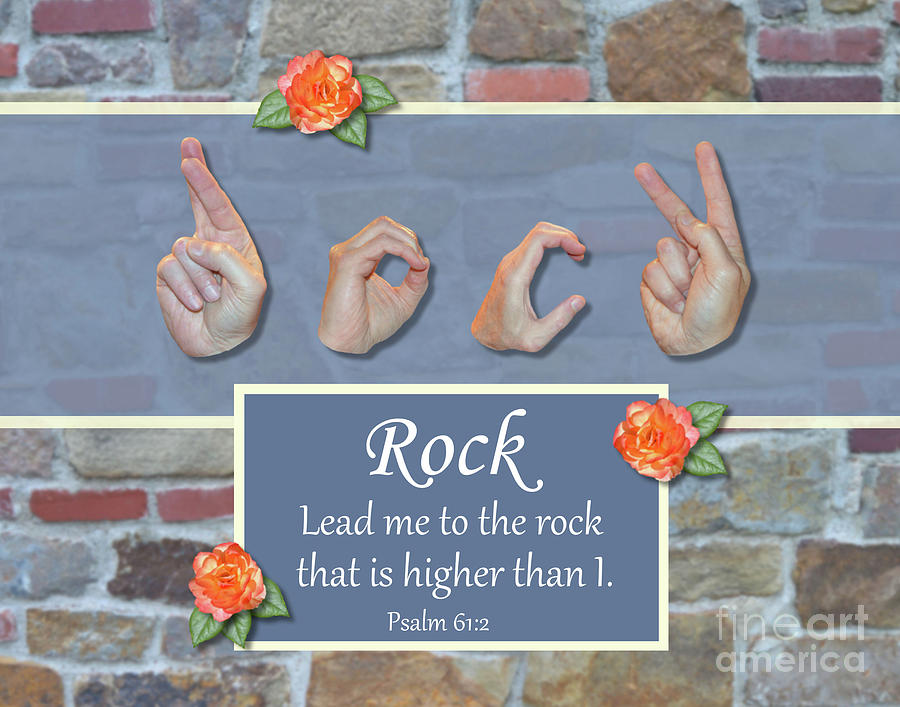 Christian Photograph - Rock That Is Higher by Masters Hand Collection