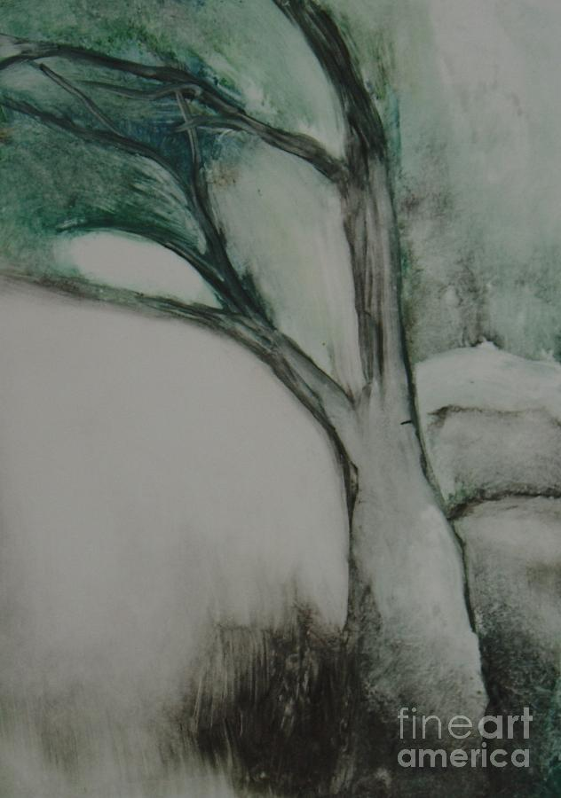 Woods Painting - Rock Tree by Leila Atkinson