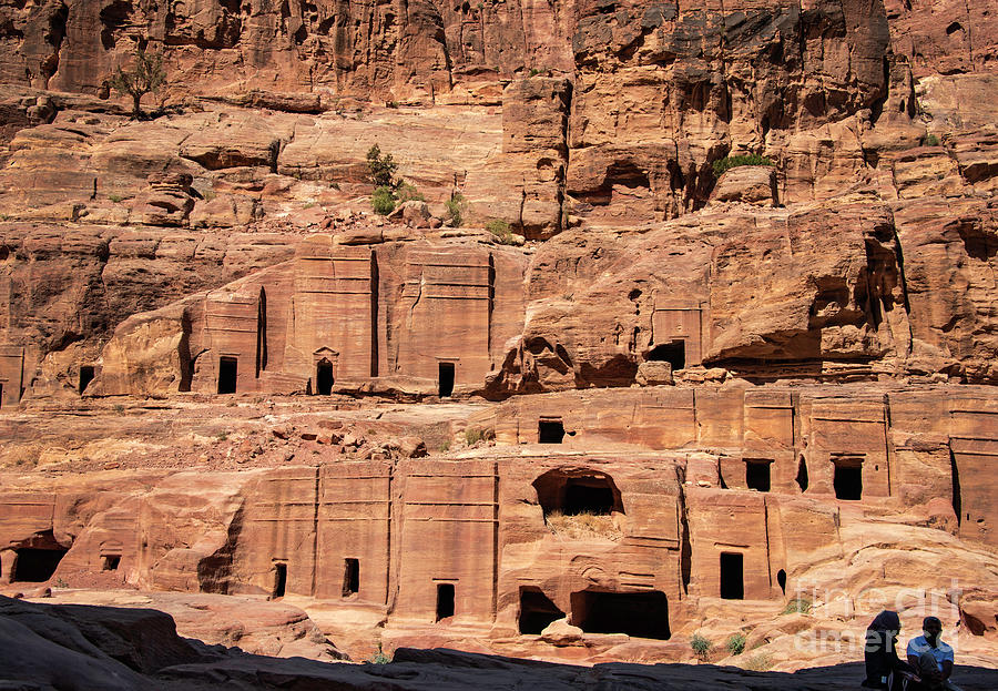 Rock Village In Petra Photograph by Mae Wertz