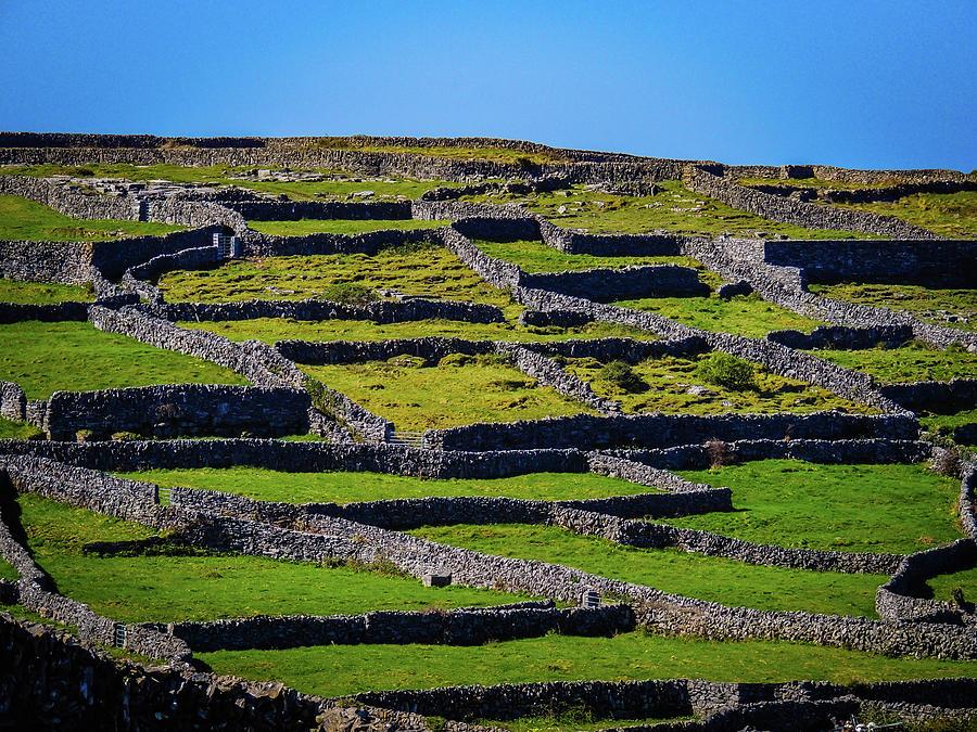 Ireland Photograph - Rock Walls Of Inisheer, Aran Islands by James Truett