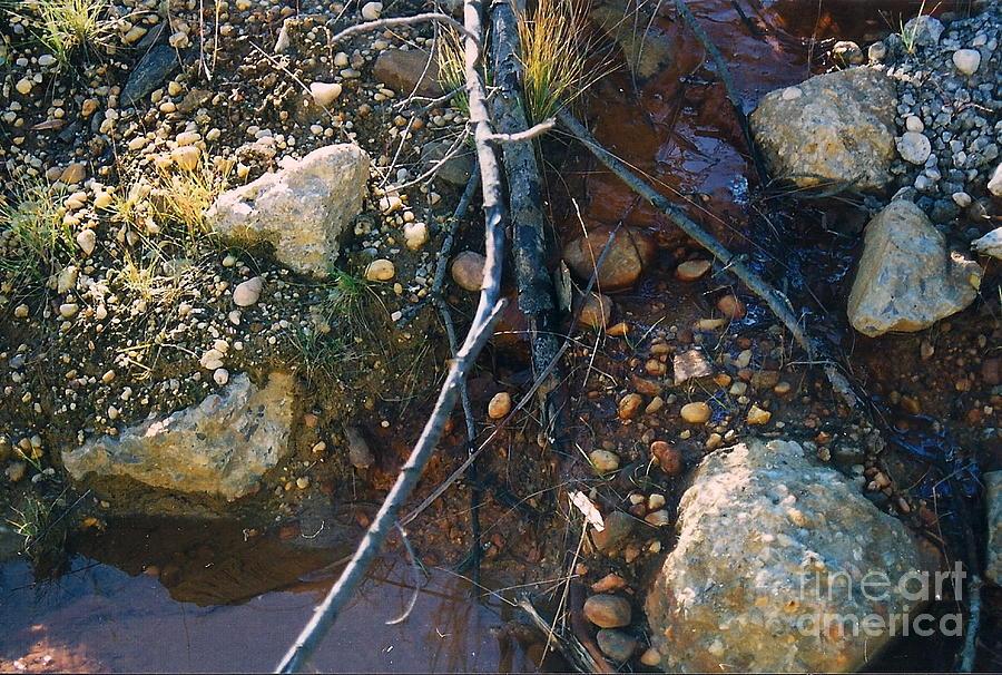 Water Photograph - Rock Water Lake by Simonne Mina
