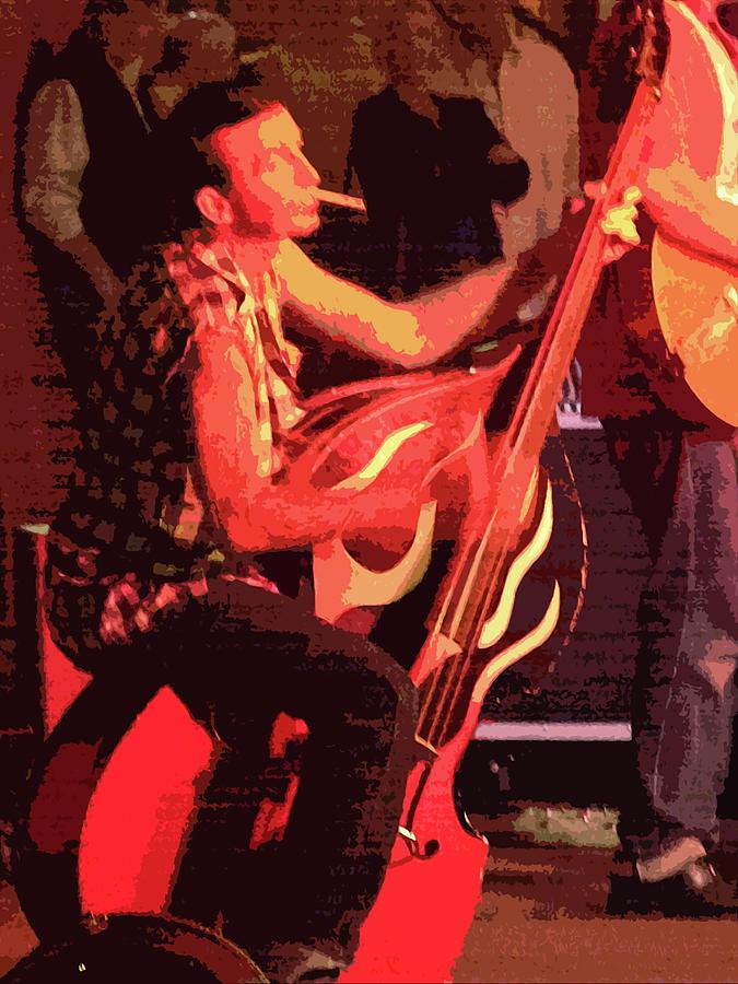 Bass Player Photograph - Rockabilly Bass Player by Andy Jeter