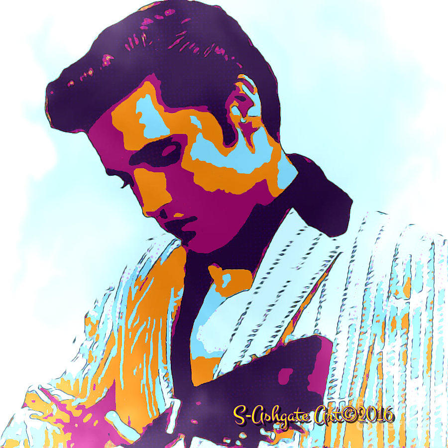 Rockart Elvis Presley Digital Art By Scott Ashgate